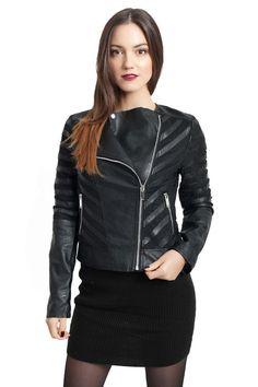 NEW Womens BIKER JACKET Crop FAUX LEATHER Ladies ZIP Coat Size 6 8 10 12
