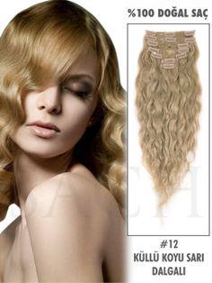 12 Küllü Koyu Sarı Dalgalı Çıt Çıt Saç