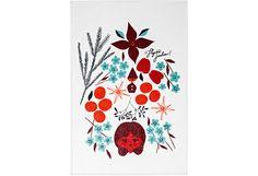 House Aatonaatto Misteli keittiöpyyhe - jouluna tulee oleiltua keittiössäkin jonkin verran... Kitchen Towels, Fabrics, Illustrations, Cards, Design, Tejidos, Tea Towels, Illustration, Illustrators
