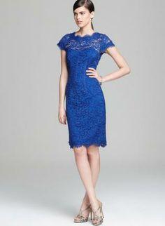 Blue Day Dress - Bqueen Blue Lace Halter Hollow