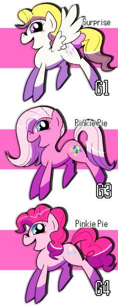 Pinkie Pies Evolution by ~ShuffleStripes on deviantART