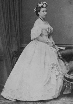 Princess Helena of the United Kingdom, on the day of her brother's wedding to Princess Alexandra of Denmark, March 1863