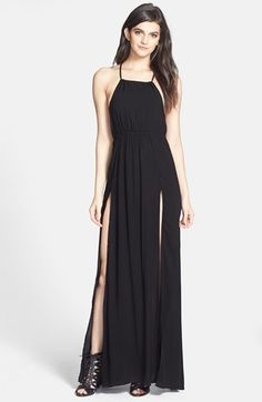 Wildfox 'Gigi' Open Back Voile Maxi Gown available at #Nordstrom