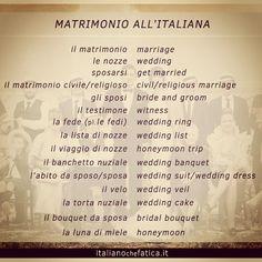 SnapWidget | Matrimonio all'italiana: come si festeggia e le parole che servono per descriverlo! #italiano #italian #learnitalian #italiangrammar #linguaitaliana