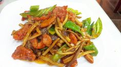 China,Stir mushrooms and beef dishes.