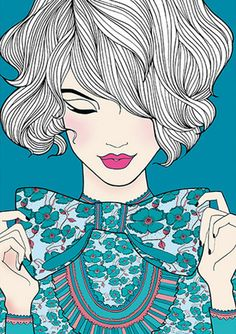 Natalie Ferstendik illustration, love this x