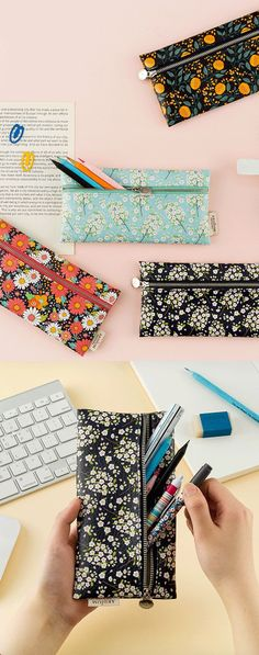 Ah, a breath of fresh air for the eyes, mind, and bag. Organizing your belongings is an absolute breeze with the Flowery Slim Pen Case! Grab one or a few and get organizing!
