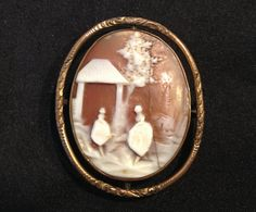 Swivel Photo Locket Antique Cameo Brooch by EyeCandyKisses on Etsy, $125.00
