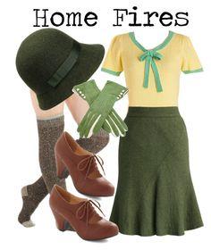 // home fires inspired Plaid Fashion, 1940s Fashion, Vintage Fashion, Fashion Women, 40s Outfits, Cute Outfits, Fashion Outfits, 60s Style Clothing, Women's Clothing