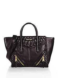 Miu Miu - Biker Large Nappa Twin Pocket Satchel