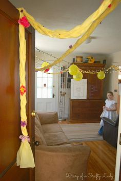 Diary of a Crafty Lady: Our Tangled Rapunzel Birthday Party