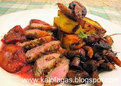 Seared Duck Breast with Grilled Polenta and Wild Mushrooms