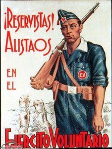 Spain - 1936-39. - GC - poster - Ejercito Voluntario