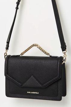 5bc37f390ab3 Karl Lagerfeld - KKlassi Black Leather Shoulder Bag. The perfect everyday  essential shoulder bag.