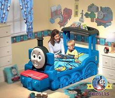 -Friends and Thomas Little Tikes Bed Train Theme toddler bedroom a ...