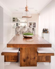 56 Trendy Home Bar Seating Banquettes Kitchen Furniture, Kitchen Dining, Home Furniture, Furniture Design, Wooden Dining Table Designs, Wooden Dining Tables, Kitchen Room Design, Dining Room Design, Dinning Room Tables
