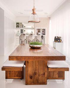 6b9de585a30 Mesa de madeira rústica  80 opções para deixar sua casa encantadora