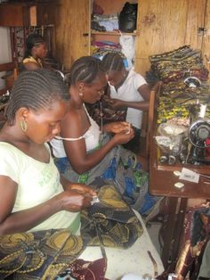 The Kono Workshop in Sierra Leone helps 15 women, mostly single mothers, support themselves by making Fair Trade accessories for sale in Europe.     Volunteers are currently raising money to travel to the workshop to purchase more products, teach the women basic skills in math, reading, business, marketing and English, as well find additional sources of income for the tailors    Please help support this project helping women help themselves: Donate, Re-pin, Share, Shop Fair Trade  THANK YOU