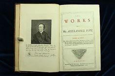 Alexander Pope THE WORKS 1717 LARGE PAPER FOLIO 1ST ED Eloisa Essay Criticism NR