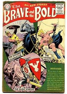 The Brave and the Bold (Aug-Sep DC) for sale online Brave And The Bold, Be Bold, Silver Age Comics, News Stories, Golden Age, Vikings, Dc Comics, Dreaming Of You, Father
