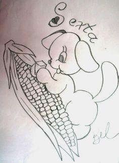 desenho da semaninha do cachorrinho com frutas - sexta- feira