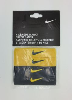NIKE DRI FIT HOME & AWAY YELLOW/BLACK ARM BANDS (OSFM) -- NEW #Nike