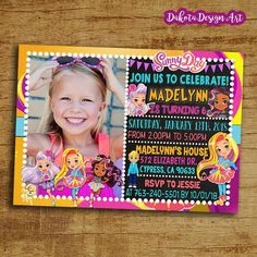 Sunny Day Inspired Party Package Printables-Sunny Day Huge Birthday Party Digital Package with Invitation /& Thank You Personalized FREE