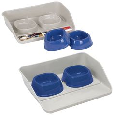 Marchioro Kiosk Feeding Tray with Bowls, Small, Beige/Blue ~~~ You could find more details by visiting the image link. (This is an affiliate link and I receive a commission for the sales) Online Pet Supplies, Dog Supplies, Parrot Play Stand, Bird Stand, Dog Store, Bird Perch, Dog Feeding, Pet Grooming, Kiosk