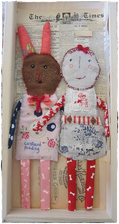 rag dolls ready to be framed by peregrine blue, via Flickr