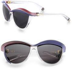 DIOR Pink Oversized Catseye Sunglasses - Lyst