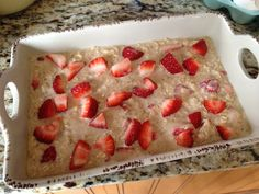 Meal Prep Tips and Ideas: featuring the Strawberry Baked Oatmeal (perfect for meal prep breakfast or mid-morning snacks)