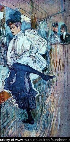Jane Avril Dancing 2 - Henri De Toulouse-Lautrec - www.toulouse-lautrec-foundation.org