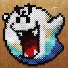 Boo Super Mario perler beads by bassobrevis