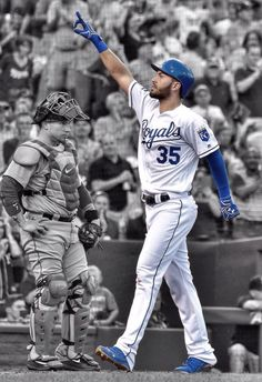 I'm trying not to be mad at him for leaving us. Eric Hosmer, Eric Decker, Royals Baseball, Fourth World, Sports Party, American League, Home Team, Kansas City Royals, Royal Fashion