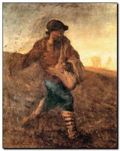 Schilderij Millet, Sower