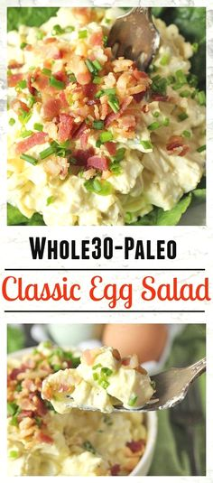 Paleo Whole30 Classic Egg Salad- easy to make and so delicious! Low fodmap, gluten free, and dairy free.