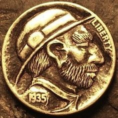 Eric Truitt - Classy Jack Hobo Nickel, Buffalo, Classic Style, Coins, Classy, Carving, Rooms, Chic, Wood Carvings