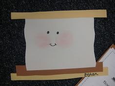 """Smores craftivity...use with a """"how to make smores"""" writing activity"""