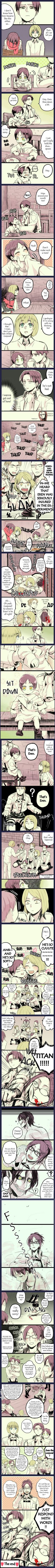 A comic about Eren who turned into a child by one of Hanji's experiments [Part 2]