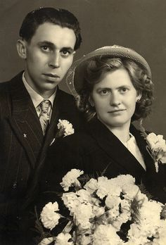 1940s wedding portrait