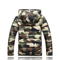 Camouflage Warm Jacket Material: Cotton, Polyester, Down