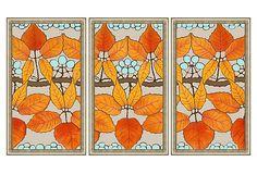 Autumn Leaves Triptych Print