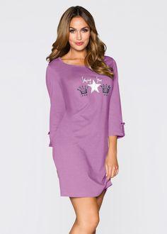 Nachthemd mat braamrood gedessineerd - bpc bonprix collection nu in de onlineshop van bonprix-fl.be vanaf 9,99 ? bestellen. Schattig nachthemd met splitje ...