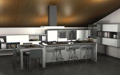 Cucina e linving contemporanei by #Scavolini #kitchen #kitchens @Sermobil #design
