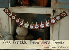 Free Printable Thanksgiving Banner :: HoosierHomemade.com