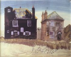 """""""Rose Cottage, Rye Harbour"""" by John Piper, 1931 (pencil, watercolour and gouache)"""