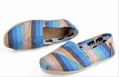 New Arrival Toms Color matching Women Shoes Blue. cheaptoms.org 7.5