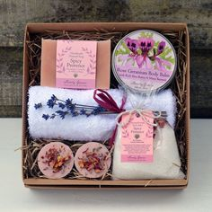 A gorgeous array of Rose Geranium and Spicy Provence scented products