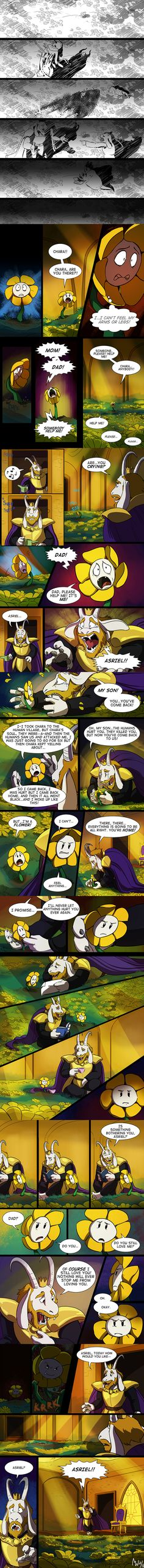 Undertale - Flowey Origins pt 1 Source: http://lynxgriffin.tumblr.com/post/139248485408/to-be-continued-i-guess-i-just-cant-stay-away