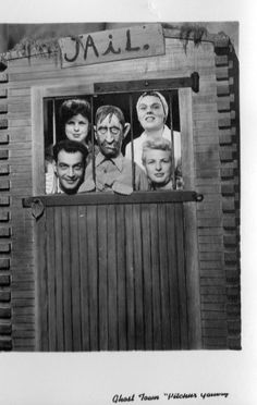 Knotts Berry Farm ~ Ghost Town about 1950ish (Chic, Sandra, Betty & Jackie)